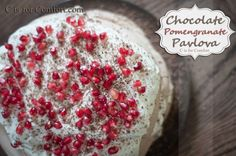You MUST try this chocolate pomengranate pavlova!
