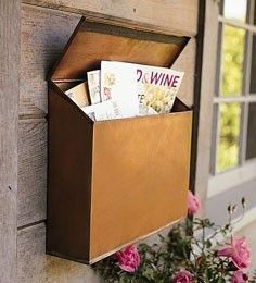 copper wallmounted mailbox