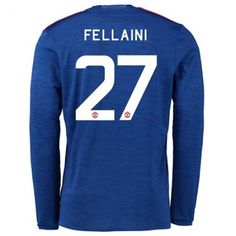 Manchester United 16-17 Marouane #Fellaini 27 Udebanesæt Lange ærmer,245,14KR,shirtshopservice@gmail.com