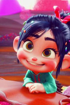 I love Vanellope Von Schweetz! I could always relate to this character because she was considered an outcast for being different from all the other Sugar Rush racers. But in the end, everyone realized that that's what made her unique and special.