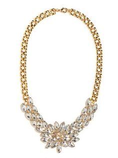 Pretty Floral Crystal necklace
