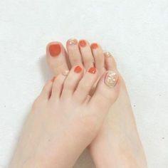 toenails, summer toenails toenail designs for summer, simple pedicures, hot toenails 2019 Feet Nail Design, Toe Nail Designs, Feet Nails, My Nails, American Nails, Summer Toe Nails, Toe Nail Art, Halloween Nails, Manicure And Pedicure