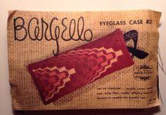 Needlepoint Eyeglass Case Kit Bargello Elsa Williams Vtg Kb 106 Blue & Black