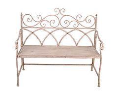 Panchina in metallo bianco Elise - 115x56x99 cm