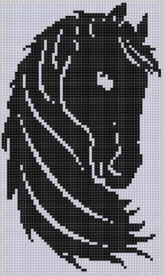 Horse Head Cross Stitch Pattern