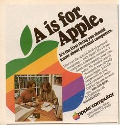 Apple ad. Vintage. Wow, who would think they'd be the makers of the iPhone and iPad?