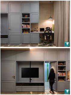 French Interior, French Decor, Black And White Flooring, Modern Bungalow House, Wardrobe Design, Studio Apartment, Contemporary Interior, Door Design, Architecture Design