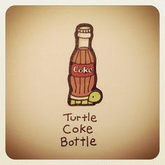 Turtle Coke Bottle #turtleadayjune - @turtlewayne- #webstagram