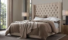 Rooms | Restoration Hardware- our new bed :)