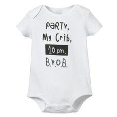 "LA Imprints Baby Romper- ""Party In My Crib"""
