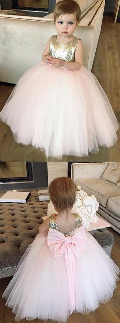 ball gown flower girl dresses,cute flower girl dress,pink flower girl dresses,bowknot flower gir dress