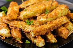 Zucchini Sticks, Parmesan, Cooking Sauces, Paleo, Finger Food, Clean Eating, Food Porn, Dessert Recipes, Food And Drink