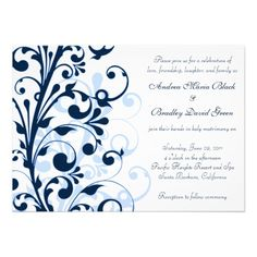 Discount DealsNavy Blue and White Floral Wedding Invitationso please read the important details before your purchasing anyway here is the best buy