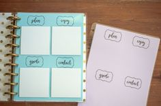 Teacher Dashboard Free Printable for the Happy Planner, Lesson Planning, Back to School