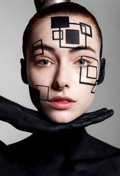 "Valeria in ""Abstract Geometry"" by Vasilis Topouslidis for Zodiac Magazine…"