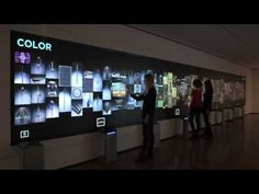 Multitouch wall Cleveland Museum - YouTube
