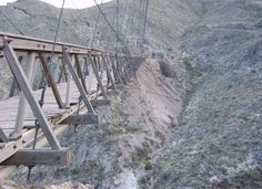 The Puente de Ojuela is in the Chihuahuan Desert. It was designed by the same Roebling brothers who also designed the Brooklyn Bridge. The bridge is the only surviving structure from the Ojuela Mine settlement.  17 Terrifying Bridges You Wouldn't Want To Cross - brainjet.com