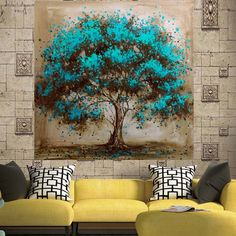 Hand Painted Modern Tree Art Decoration Oil Painting On Printed Canvas Landsacpe Wall Pictures For Living Room Decor Oil Painting Pictures, Oil Painting Flowers, Oil Painting Abstract, Painting Canvas, Abstract Pictures, Oil Paintings, Paint Flowers, Pour Painting, Spray Painting