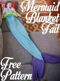 Mermaid Blanket Tail Free Pattern