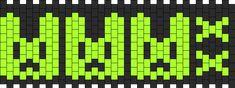 Noiz Bunny Cuff bead pattern