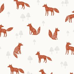 "Dashwood Wildwood Fabric 1037 Brown Foxes Craft Cotton 44"" quilting, crafting in Crafts, Sewing & Fabric, Fabric 