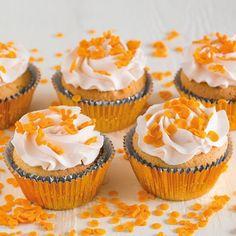 Feestelijke oranje cupcakes