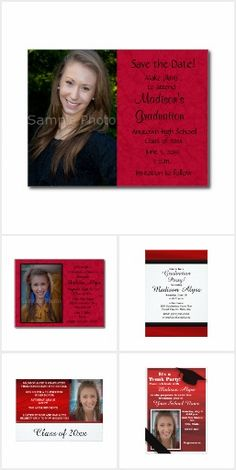 Dark Blue and Moss Green Trunk College Party Photo Card College