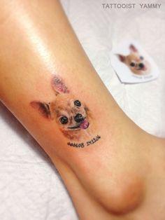 Of The Best Chihuahua Tattoo Ideas Ever Mini Tattoos, Dog Tattoos, Flower Tattoos, Body Art Tattoos, Small Tattoos, Family Tattoos, Chihuahua Tattoo, Dog Memorial Tattoos, Neue Tattoos