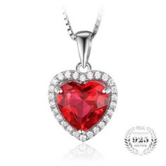 4.5ct Blood Red Gem Stone Ruby Pendant Heart Genuine Solid 925 Sterling Silver – The …