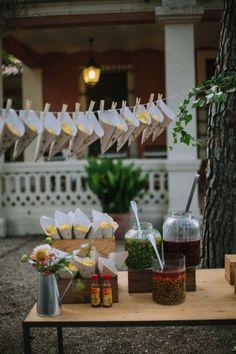 decoración buffet boda www.bodasdecuento.com
