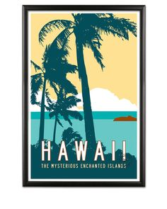 HAWAII Travel Poster Art Personalized Print by TransitDesign