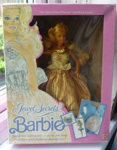 JEWEL SECRETS BARBIE VINTAGE DOLL BOXED 1987   26.5+3