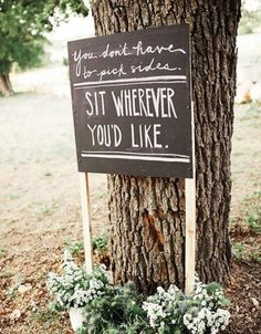 Huge fan of this idea! Let your guests sit wherever they like for the ceremony. I think we'll do something similar!