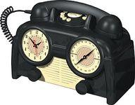 1930s bakelite clock radio phone. @designerwallace