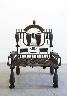 Goncalo Mabunda (Mozambique): Untitled (Throne), 2011. Media, deactivated armaments.