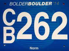2014 Bolder Boulder 10K (CO).  May 2014. Race Bibs, Company Logo, Logos, Logo, Legos