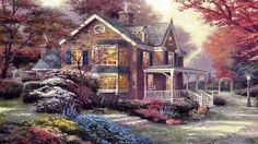 thomas kinkade paintings jesus - Google Search