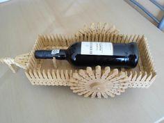 Carro para Garrafa de Vinho Porto em molas madeira
