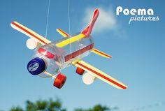 Avião com Garrafas Pet