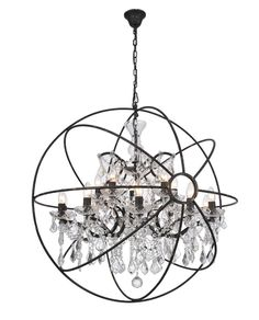 Orb Pendant Light - Large - Chandelier Interior – Allissias Attic & Vintage French Style