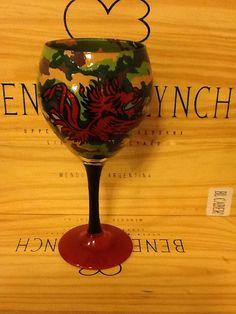 Hand Painted Camoflauge South Carolina Gamecock Wine Glass on Etsy, $39.95