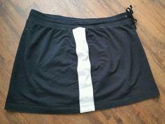 BLACK Stretch Net SKORT Wms Size 18 / 20 W VENEZIA Brand Drawstring Waist GUC #VENEZIA #StretchKnitSKORT