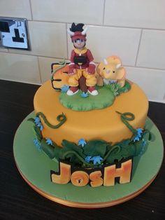 Dinosaur king cake Cake by GazsCakery Dinosaur Cake, Dinosaur Birthday Party, 3rd Birthday Parties, 4th Birthday, Birthday Ideas, King Birthday, Birthday Cake, Barbie, Novelty Cakes