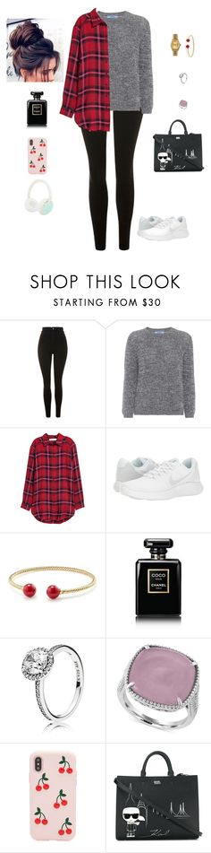 """""""Untitled #380"""" by kelly2210 ❤ liked on Polyvore featuring Topshop, Prada, H&M, NIKE, Rolex, David Yurman, Chanel, Pandora, Effy Jewelry and Sonix"""