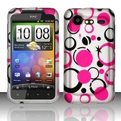 Insten Design Pattern Dust Proof Rubberized Hard Plastic Phone Case Cover for HTC Incredible 2 6350