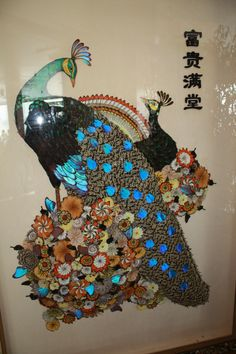 peacock from butterflies- Chinese art