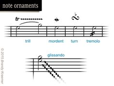 Essential Symbols & Commands of Sheet Music: Note Ornaments