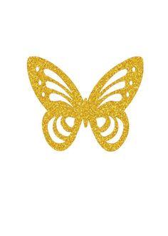 Diy Cake Topper, Unicorn Cake Topper, Birthday Cake Toppers, Butterfly Cakes, Butterfly Decorations, Glitter Png, Happy Birthday Printable, Cake Logo Design, Butterfly Painting