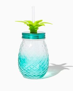 Pineapple Ombre Tumbler Glass | Charming Charlie