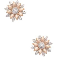 EFFY Women's Diamond Flower Stud Earrings (242.240 HUF) ❤ liked on Polyvore featuring jewelry, earrings, no color, 14k earrings, rose stud earrings, 14 karat gold earrings, rose flower stud earrings and 14k diamond earrings